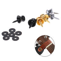 2Pcs Guitar Bass Ukulele Guitar Strap Buckle Button Lock Pins Metal End Locki YK