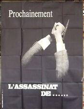 """L'ASSASSINAT DE TROTSKY {ALAIN DELON} 46""""x61"""" French Movie Original Poster 70s"""