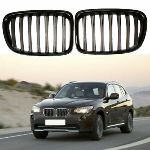 For BMW X1 E84 2009-2015 Front Kidney Grille Grill Gloss Black 51117347667 UK