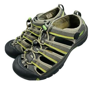 KEEN Big Kids Newport H2 Sandal Sz 4 EU 36 Waterproof green Gray Water Hiking P8