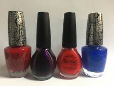 Mixed Lot of Four (4) nail polish Nicole by OPI E55 K32 K14 E56 shatter