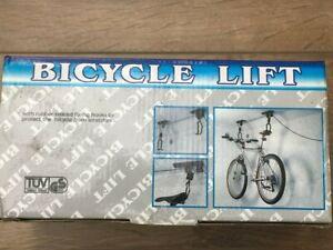 Bicycle lift  Hanging bracket handy storage option.