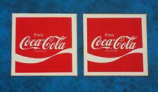 2 x  Vintage 1970,s  COCA-COLA  soft drink advertising stickers