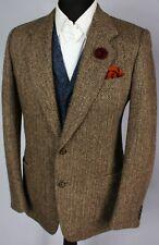 Tweed Blazer Jacket Brown 40R IRISH TWEED ITALIAN TAILORING 2857
