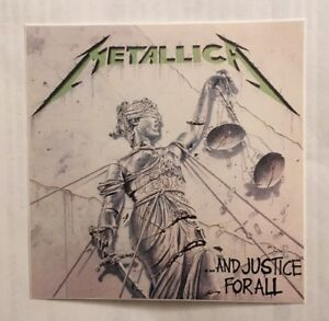 Metallica Sticker - And Justice For All