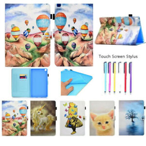 For Apple iPad Mini1234 Air 2 Pro 9.7 10.5 Colorful Painted Leather Case Cover
