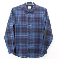 Hurley Men's Shirt Large Blue Plaid Button Down New NWT Free Fast Shipping