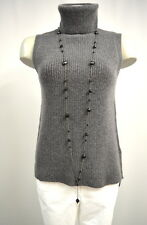 Someday Tami Pullover Strick Pullunder Gr. 38 Wolle Mohair anthrazitgrau TOP