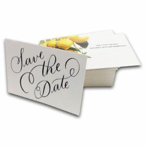 100 x A6 Wedding Invites High Quality Full Colour Printed Free Design-Free P&P