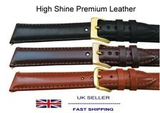 Prestige Leather Watch Strap Sizes 10mm to 20mm Std and XL Nappa High Shine