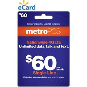 METRO PCS  $60 Prepaid Refill  Fast Direct Refill to your MetroPCS Mobile number