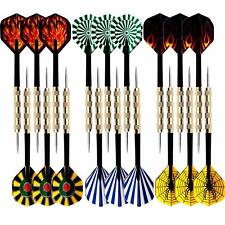 18 pcs(6 sets) of Steel Tip Darts Slim Barrel With Nice Dart Flights US Shipping