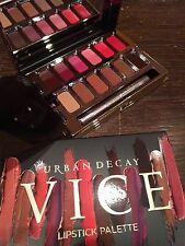Urban Decay UD Vice Rouge à lèvres palette CHANTAGE avec pinceau à neuf en boîte