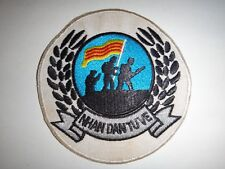 "Vietnam War ARVN People Self-Defense Group ""NHAN DAN TU VE"" Patch"