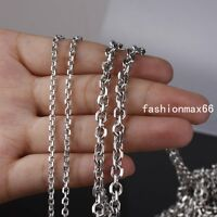 2/3/4/5mm Wholesale Meters Silver Stainless Steel Oval Rolo Link Necklace Chain