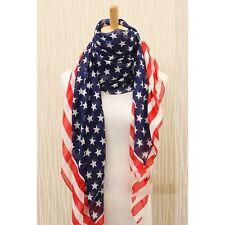 Foulard echarpe etole chale cheche pareo drapeau americain USA ETATS UNIS