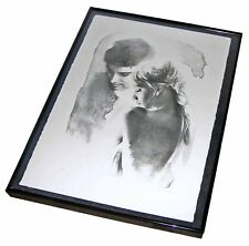 "【RARE】Framed ""Lovers"" ARTIST PROOF Sandu Libman Signed Original Litho! ~BLD COA~"
