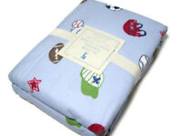 Pottery Barn Kids All Star Sports Football Flannel Twin Duvet Cover New