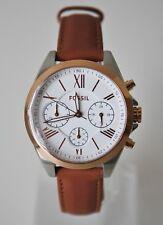Fossil Damenuhr Armbanduhr BQ3039 rosegold braun Leder