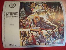 CYPRUS - 1972 MADONNA & CHILD - MINISHEET - UNMOUNTED MINT MINIATURE SHEET