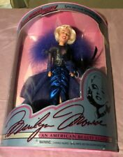 Marilyn Monroe Showgirl American Beauty Classic Barbie Doll Blue Dress, New