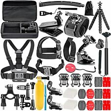 50 Essentials Accessories Kit for GoPro Hero 5/4/3/2/1 Session Hero head Mount