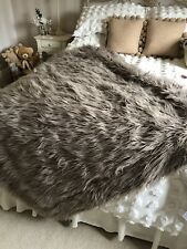 Fur Purple Grey Throw Bedding Blanket Brand New