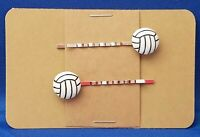 VOLLEYBALL Sport Handmade Bobby PIn Hair clips - Set of 2