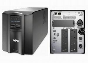 "APC SMT1000 Smart-UPS 1000VA 700W 120V LCD Tower Battery Power Backup Grade ""A"""