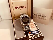 Citizen 49-9315 Round Calculator GN-4W-S LCD  Collectible Watch