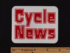 CYCLE NEWS STICKER Vintage Motocross Enduro Dirt Track Decal Husqvarna CZ Penton