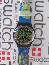 Swatch The Globe GB137 1991 Spring Summer Collection Standard Gents 34mm