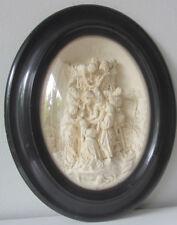 Cornice ovale Napoleone III -scultura in caolino- Deposizione dalla Croce