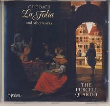 C.P.E. Bach - Purcell Quartet: La Folia and other works (Hyperion) Like New