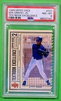 1999 UPPER DECK TEXTBOOK EXCELLENCE KEN GRIFFEY JR. HOF POP 1 PSA 8