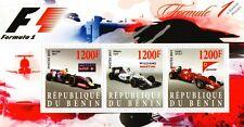 2015 FORMULA 1 Grand Prix Racing Car Stamp Sheet (Ferrari / Williams / Mercedes)