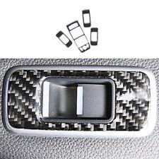 For Jaguar XE 2016-2019 Real Carbon Fiber Window Lift Panel Switch Cover Trim