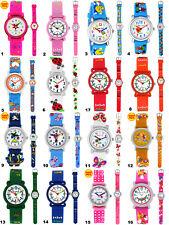 Armbanduhren Kinder Lernuhr Mädchen Jungen Kinderuhr analog Silikon Armband Uhr