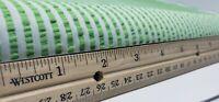 "Vintage Candy Green Striped Seersucker Cotton Fabric 44"" wide BTY"