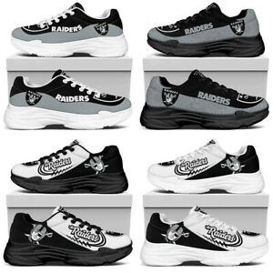 Las Vegas Raiders Running Sports Shoes Trainers Gym Lightweight Jogging Sneakers