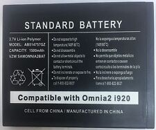 Replacement Battery for Samsung Omnia 2 i920 AB514757GZ 1500mAh