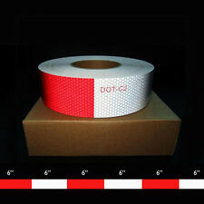 """2""""(48mm) x 150' DOT-C2 Conspicuity Tape  6"""" x 6"""" Red [4 ROLL CASE]"""