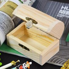 Wooden Pearl Jewelry Box Case Art Decor Wood Crafts Collect Storage Gift Case