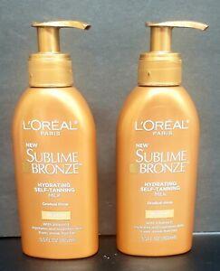 Loreal Paris Sublime Bronze Hydrating Self-tanning Milk Gradual Glow Medium x 2