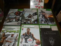 Lot of 7  XBOX 360  7 Games Battlefield 4 Skyrim Assassins Creed 4 Skate 3