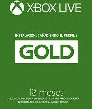 LIVE GOLD - XBOX ONE | 12 meses | 1 año | Activación para Jugar en Internet
