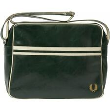 FRED PERRY CLASSIC SHOULDER BAG DEEP FOREST/ECRU MEDIUM L3331 G65 NEW WITH TAGS