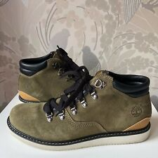 Mens Timberland Newmarket Hiker Boots Khaki Green Suede & Leather Size UK 9