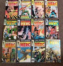 Marvel New Universe Merc Mark Hazzard complete set 1,2,3,4,5,6,7,8,9,10,11,12
