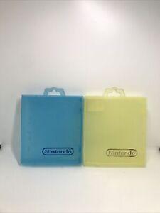 2 Original NES / SNES Rental Cases (Nintendo) Yellow And Blue (Toys R Us)